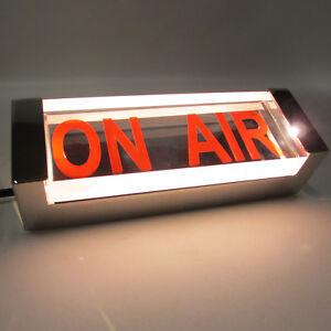 ON-AIR-Hinweisleuchte-Chrom-Wandlampe-Wandleuchte-Hinweislampe-Vintage-Dekolampe