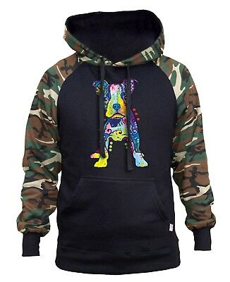 Pitbull Galaxy HOODIE Sweatshirt Sweater Hooded Dog Face Animal Lover Puppy Gift
