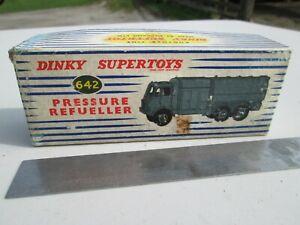 Dinky Supertoys #642 - Tapa de caja de presión RAF sólo Refueler.