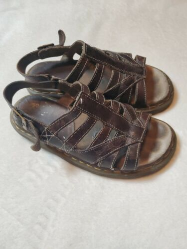 Doc Martin Leather Sandals Strappy Brown Womens Si