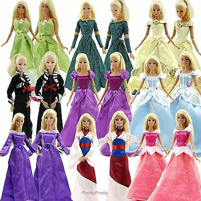 Fashion Party Princess Dress Wedding Clothes//Gown+veil For 11.5 inch Doll #32