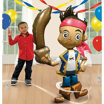 """JAKE AND THE NEVERLAND PIRATES BIRTHDAY PARTY- 75"""" JUMBO AIR-WALKER FOIL BALLOON"""