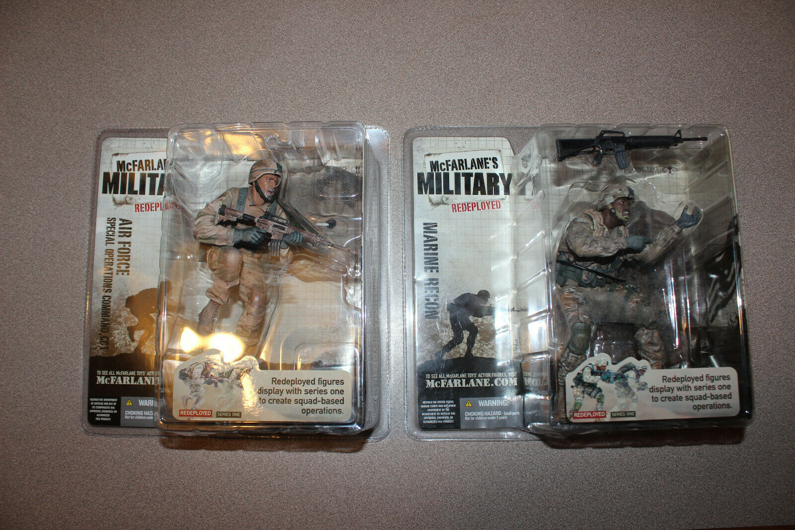 2 McFARLANE Military Figurines Marine Recon & Air Force Special Ops roteployed