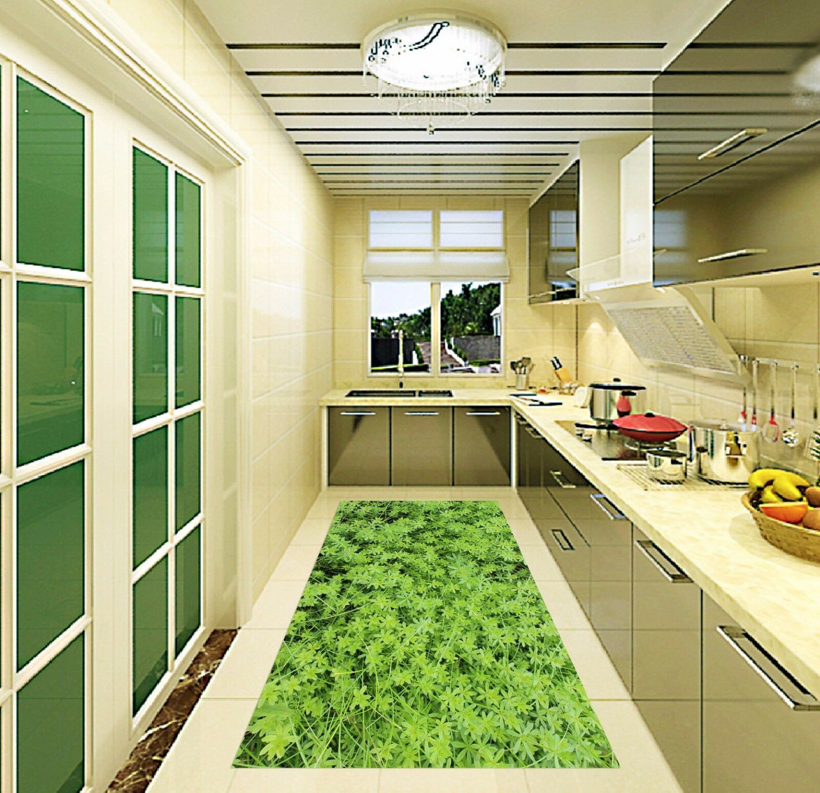 3D Grün Grass 735 Kitchen Mat Floor Murals Wall Print Wall Deco UK Carly