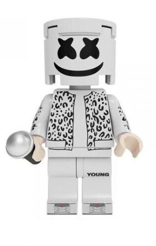 Marshmello DJ Mini Figure NEW UK Seller Fits Major Brand Blocks Bricks American