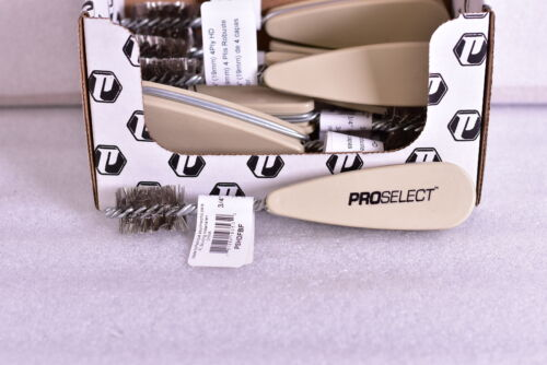 Lot of 10 Pro Select Heavy Duty 4 PLY Wire Fitting Brush with Plastic Handle