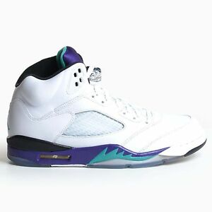 bb21afbc11f Air Jordan 5 Retro White Grape Ice New Emerald 2013 Purple V DS ...
