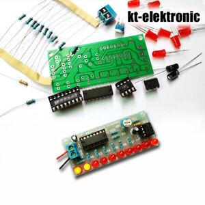 Bausatz-10-Kanal-LED-Lauflicht-mit-NE555-CD4017-Platine-Lernpaket-Chaser