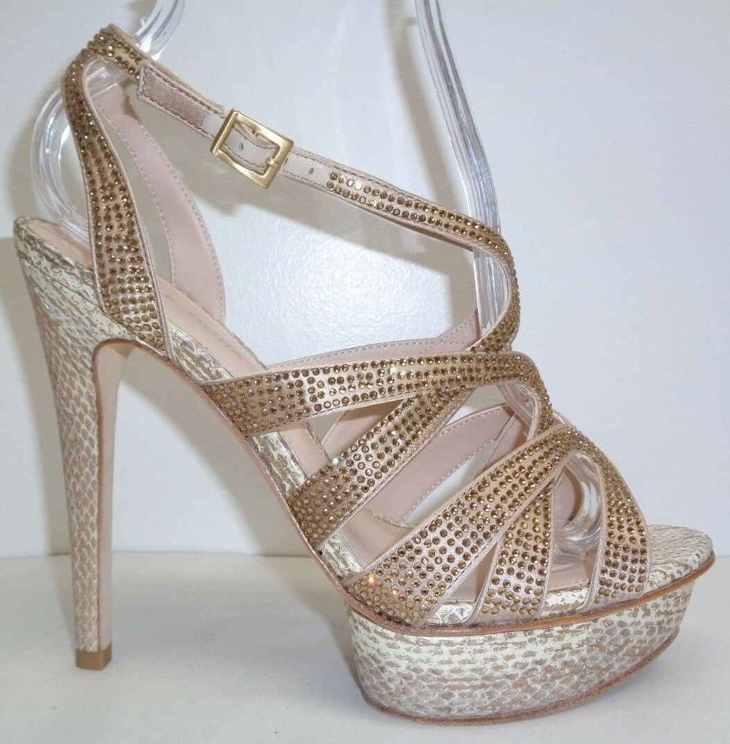 Pelle Moda Taille 8 M MALIN or Silk Platform Heels Sandals New femmes chaussures