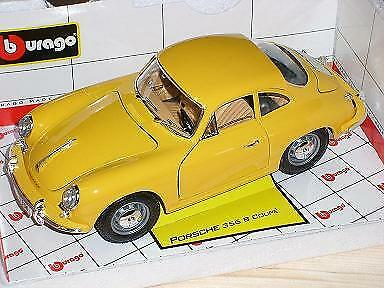Porsche 356B Coupe Gelb 1959-1963 18-12026 1//18 Bburago Modell Auto mit oder o..