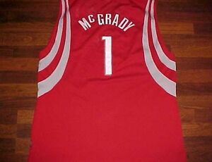 16a5c7172692 Tracy McGrady 1 Houston Rockets HOF NBA Reebok 2003 04 Swingman Red ...