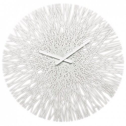 "Koziol Silk Horloge murale moderne large 18"" 45 cm Horloge-Blanc"