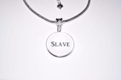 Palabra de esclavos encanto Tobillera Tobillo Cadena Joyería euro cornudo sumisa esposa del animal doméstico