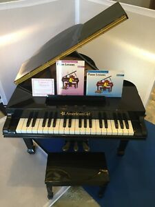 American-Girl-doll-Grand-Piano-Bench-Books-WORKS-amp-RETIRED-Excellent-Condition