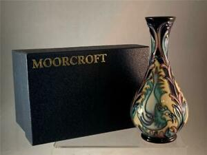 2007-Moorcroft-MOROCCAN-MYTHS-Bird-Vase-1st-Quality-6-034-Kerry-Goodwin-Orig-Box