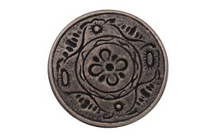 silber antik Metall Knöpfe flach Ösenknöpfe geschwärzt 25mm 5 Stück