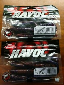 Lot-of-13-ct-Berkley-Havoc-4-034-amp-5-034-Purple-Pumpkin-Red-Pit-Boss