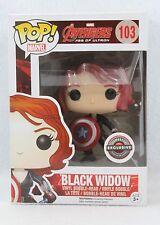 Funko Pop Gamestop Exclusive BLACK WIDOW w Cap Shield Avengers Vinyl Figure 103