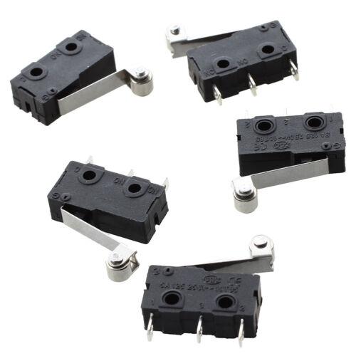 5 Stueck Mikro-Endschalter Rolle Arm Subminiaturschalter SPDT Schnappschalt K5N8