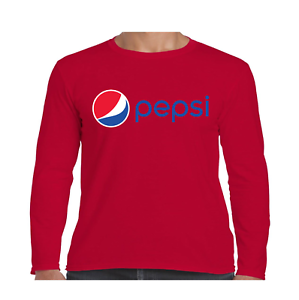 5e5a22ee Image is loading Pepsi-Logo-Long-Sleeve-T-Shirt-Youth-and-