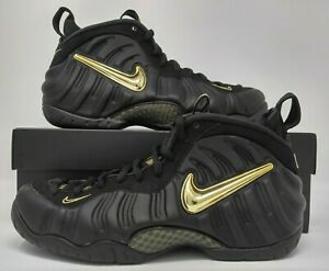 brand new b3123 65385 Image is loading Nike-Air-Foamposite-Pro-Black-Metallic-Gold-Men-