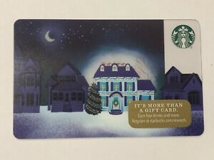 2017-STARBUCKS-CHRISTMAS-034-LIGHTED-HOUSE-034-GIFT-CARD-6142-MINT-NO-VALUE
