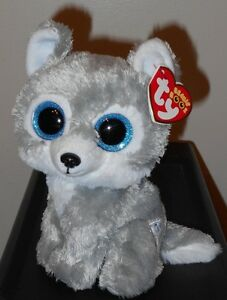 "Ty Beanie Boos ~ WARRIOR the Grey Wolf 6"" (Great Wolf Lodge Exclusive) NEW"