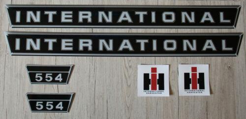 IHC Mc Cormick Aufkleber 554 kurz Silber Traktor Logo Emblem Sticker Label .