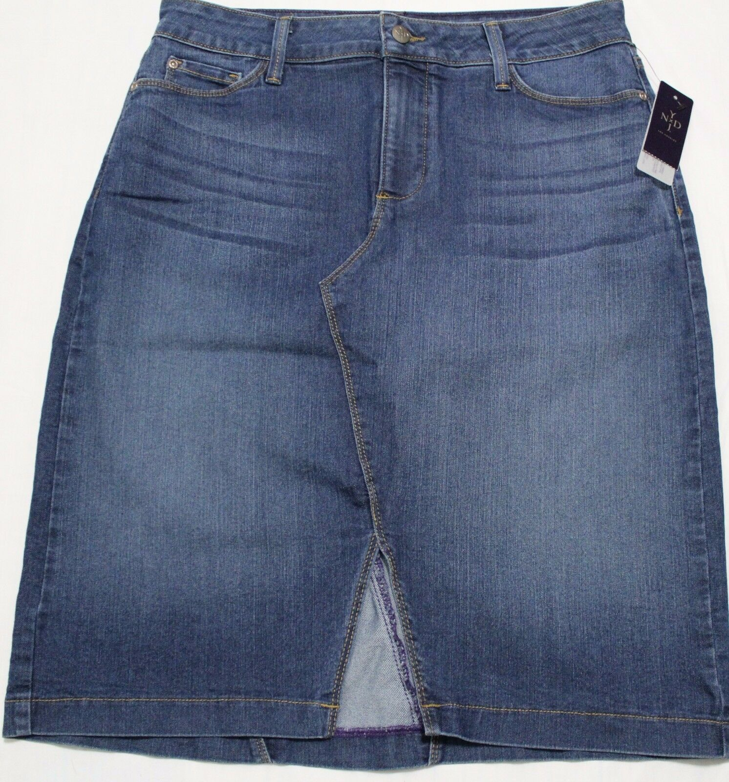 104 NYDJ NOT YOUR DAUGHTER'S JEANS ATLANTA DENIM SKIRT US 8