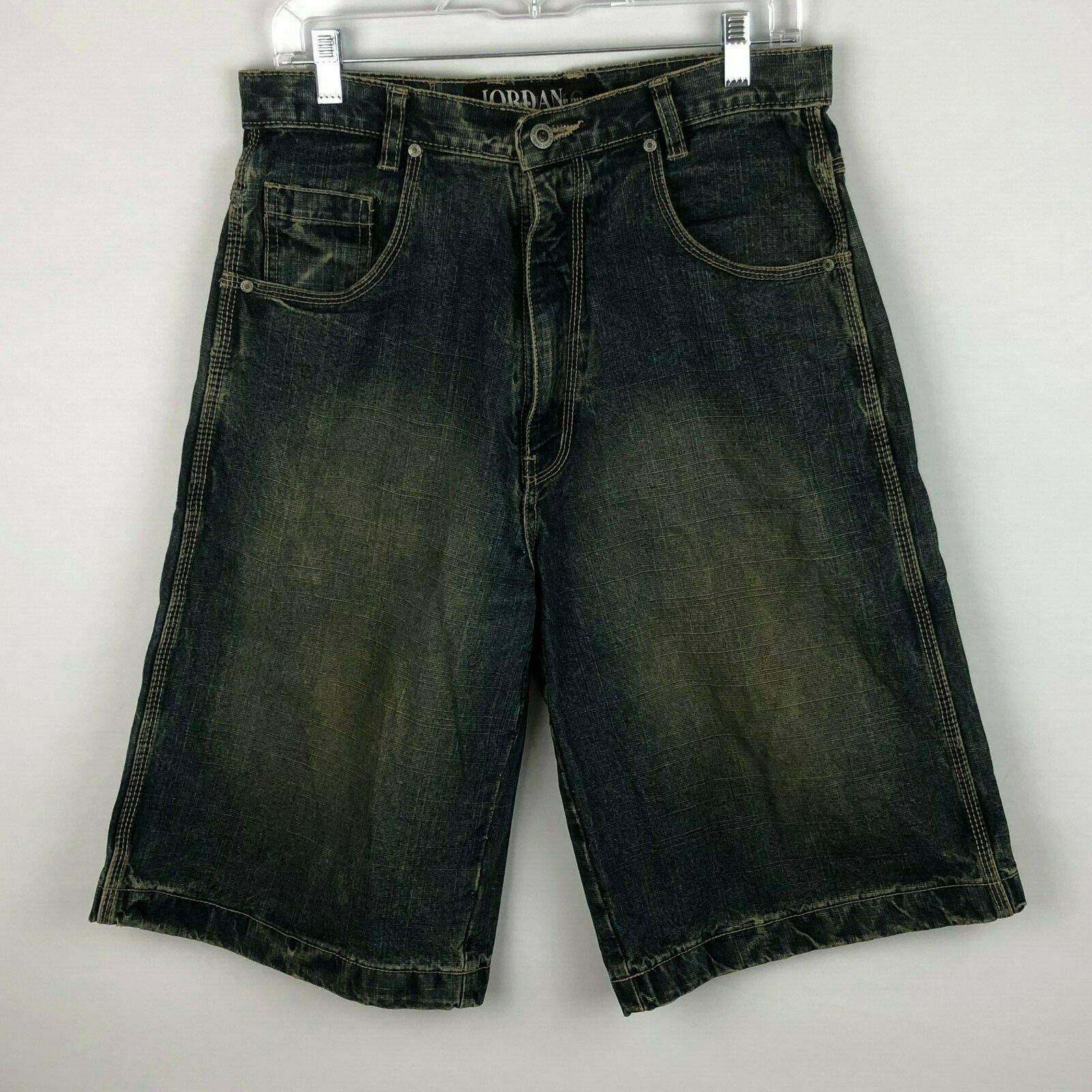 Jordan Craig Mens 32 Sandblasted Denim Shorts 31 X 12 3 4