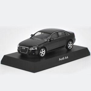 AUDI-A4-coche-modelo-escala-1-64-De-Metal-Regalo-de-vehiculos-de-juguete-Diecast-Ninos-Negro