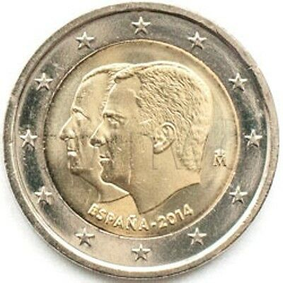 Spain 2 euro 2014 King Felipe VI UNC (#1112)