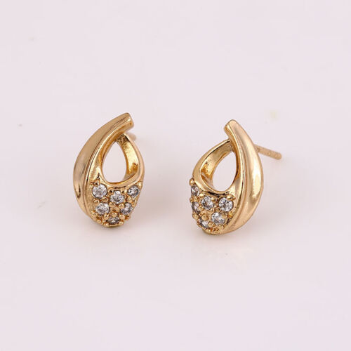 """Stunning 9ct 9K Yellow /""""Gold Filled/"""" Ladies Girls Heart Stud Earrings 12mm Gift"""