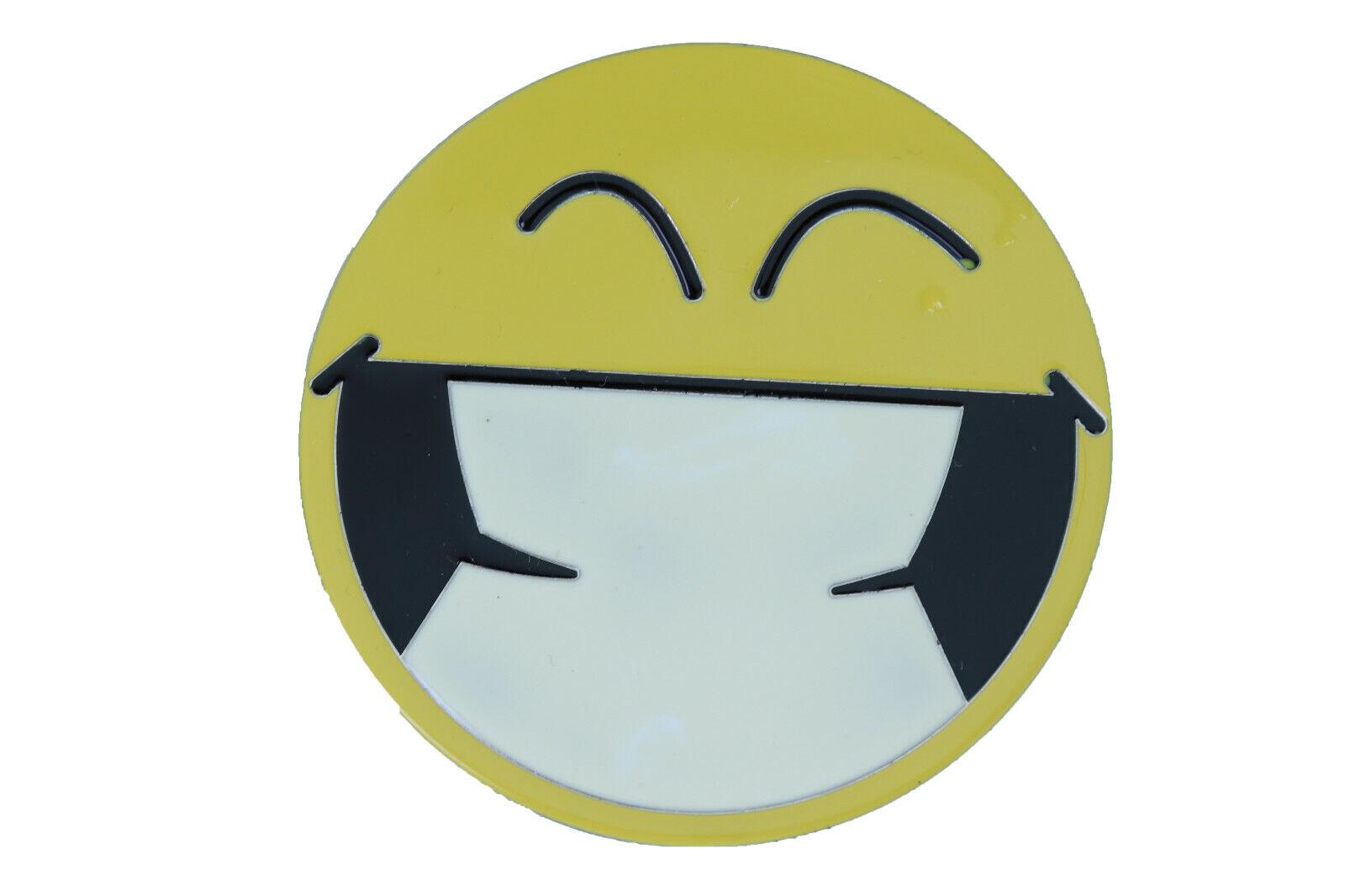 Damen Gürtelschnalle Silber Metall Gelb Farbe Smiley Augen Emoji Retro Cartoon