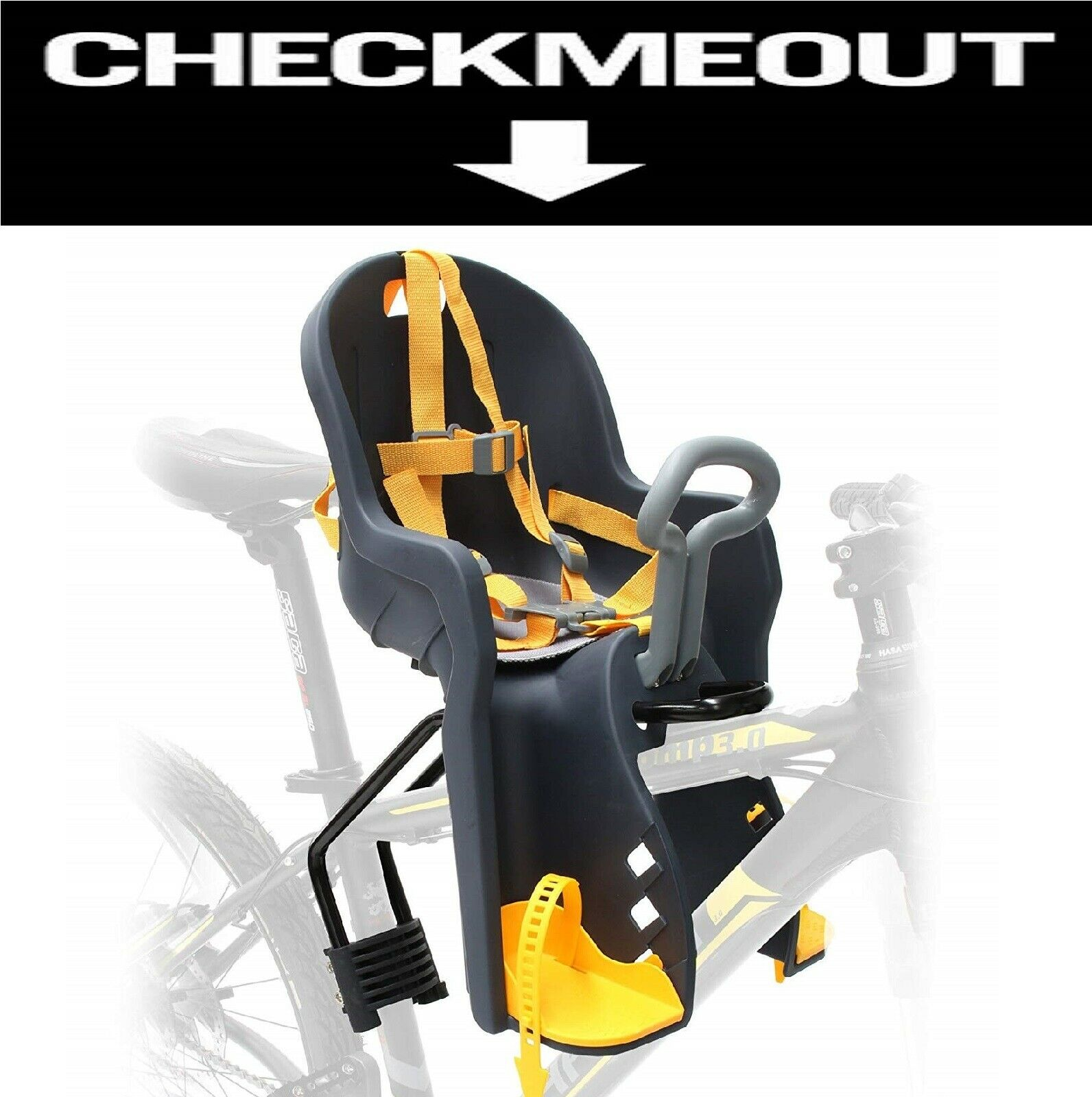 Bicycle Front Seat For Kids Safety Kid's Front Seat For Bicycle FAST DELIVERY