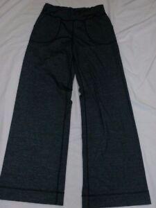 bfbd00dbac8706 Lululemon Athletica Women SZ 6 Still Pants Heathered Coal Yoga Wide ...
