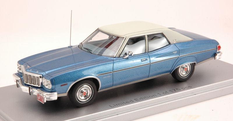 FORD Gran Torino Brougham 1976 blu/bianca Limited Edition 175 PCS 1:43 Model