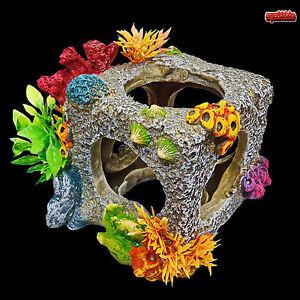 aquarium deko korallen w rfel zubeh r riff h hle terrarium fische barsche ebay. Black Bedroom Furniture Sets. Home Design Ideas