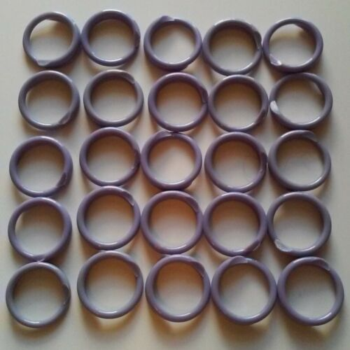 """100 PURPLE Poultry Spiral ID Leg Bands Standard Size 11 Chicken 11//16/"""" One Color"""