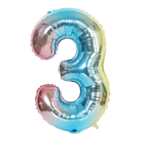 """32/"""" Foil Balloon Large Number Shape Colorful Baby Birthday Party Gift Decoration"""