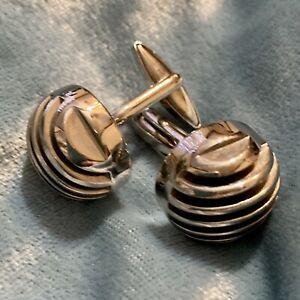 Vintage silver tone cuff links