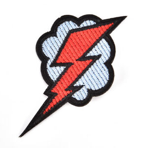 Lightning-Embroidered-Patch-Iron-Sewing-Applique-Cute-Fabric-Badge-for-Coat-RS