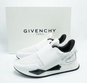 Details about Givenchy $695 AUTH Mesh Elastic Slip On Sneakers Mixed Material Runner White 35