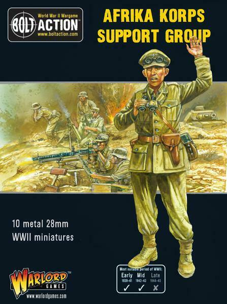 Warlord Games German Africa Corps Support Group 28mm Germany Bolt Action Ww2