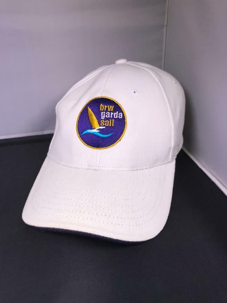 Baseball Cap - BRW - Garda Sail - Slazenger - weiß/blau/gelb - Neu ohne Etikett