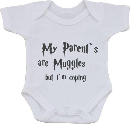 I miei genitori sono babbani MA IM cimasa Harry Potter Divertente cotone bambino gilet o bavaglino