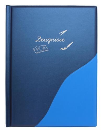 Farbe IDENA Zeugnismappe mit 12 Hüllen metallic blau