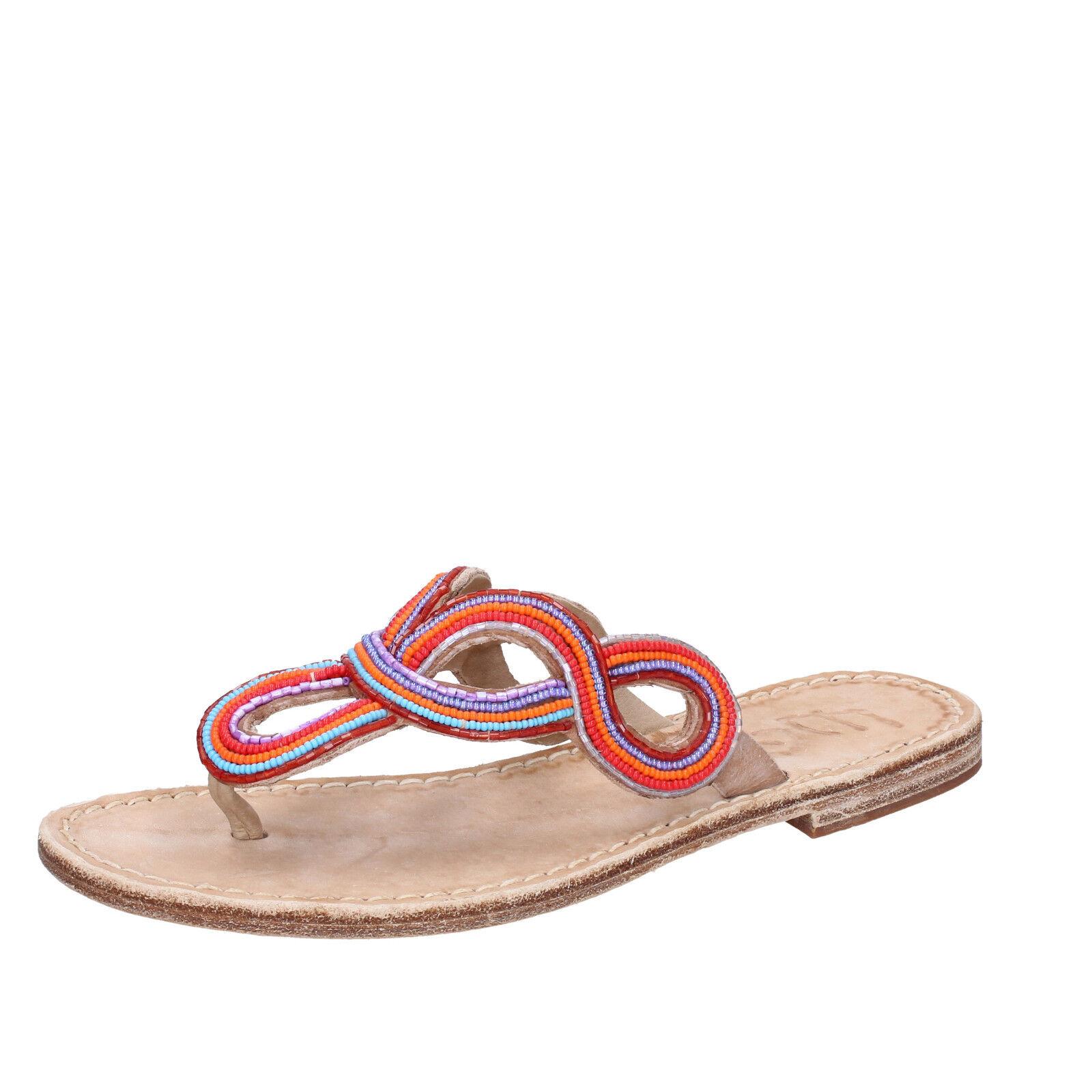 Para mujeres Zapatos Eddy Daniele Daniele Daniele 7 (EU 37) Sandalias De Cuero MultiColor AV403  comprar barato