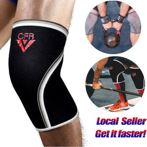Knee-Compression-Sleeves-Support-Crossfit-Power-Weight-Lifting-Squats-Brace-PAIR