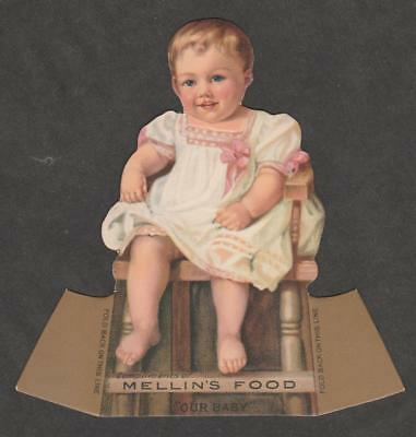 """Advertising Collectibles Smart Shape Trade Card~bogart As Mellins Food """"baby""""~original Stand-up Adv~vg C1920 To Invigorate Health Effectively"""